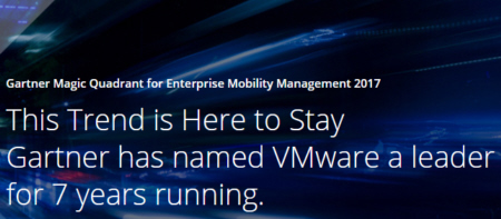 VMware nominato Leader nel Magic Quadrant per l'Enterprise Mobility Management 2017